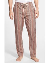 Paul Smith | Brown 'iconic' Stripe Cotton Pajama Pants for Men | Lyst