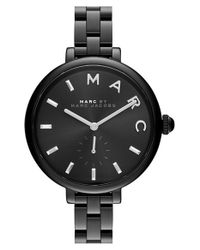 Marc Jacobs Black 'sally' Bracelet Watch