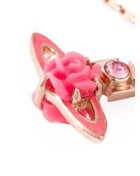 Vivienne Westwood | Pink Rose Orbit Bracelet | Lyst