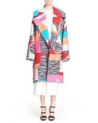 ROKSANDA - 'marles' Multicolor Woven Coat - Lyst