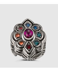 Gucci - Multicolor Ring With Swarovski Crystals - Lyst