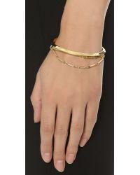 Eddie Borgo | Metallic Peaked Chain Cuff Bracelet - Gold | Lyst
