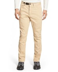 Gramicci Brown 'city Jean' Stretch Twill Pants for men