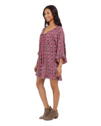 Roxy | Purple Blackbird Dress | Lyst