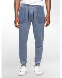 Calvin Klein | Blue Jeans Slim Burnout Sweatpants for Men | Lyst