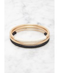 Forever 21 - Metallic Cord-wrapped Bangle Set - Lyst