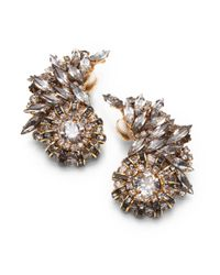 Erickson Beamon | Metallic Velocity Crystal Earrings | Lyst
