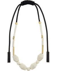 Marni | Black Fabric And Nautical Cord Necklace | Lyst