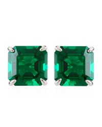 Carat* | Green Asscher Stud Earrings | Lyst