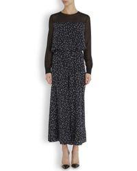Boutique Moschino Black Star Print Silk Jumpsuit
