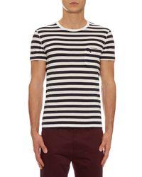 Burberry Brit - Blue Striped Cotton T-shirt for Men - Lyst