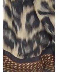 Lara Bohinc Multicolor Leopard Print Scarf