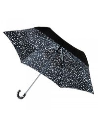 Lulu Guinness Black Superslim Roughly Cut Out Spot Umbrella
