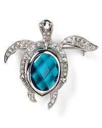 Carolee | Blue Turtle Pin | Lyst