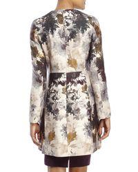Les Copains - Natural Floral Wool Coat - Lyst