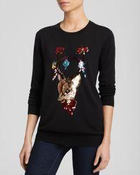 Markus Lupfer Black Sweater - Christmas Reindeer Sequin