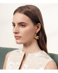 Tory Burch Metallic Dove Hoop Earring