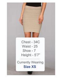 BCBGMAXAZRIA Natural Simone Bandage Skirt