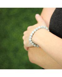 Sydney Evan | Blue Diamond Wishbone Charm Beaded Bracelet | Lyst