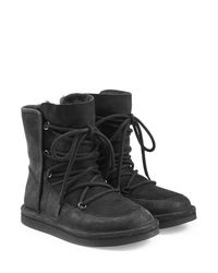 UGG - Black Lodge Water-Resistant Suede Boots - Lyst