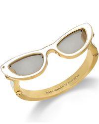 kate spade new york Metallic 12K Gold-Plated White Sunglasses Bangle Bracelet