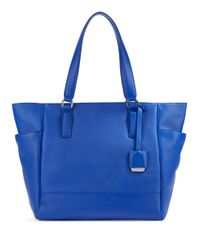 Kenneth Cole | Blue Nevins Textured Leather Tote | Lyst