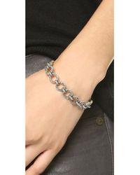 House of Harlow 1960 - Metallic Eternal Link Cuff Bracelet - Lyst