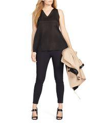 Lauren by Ralph Lauren | Black Plus Skinny Stretch-cotton Pants | Lyst