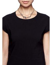 Alexander McQueen | Metallic Crystal Embellished Skeleton Necklace | Lyst