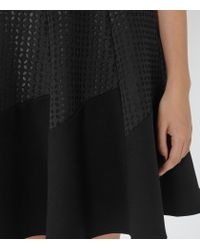 Reiss - Black Pinot Cut-out Fit And Flare Dress - Lyst