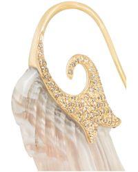 Noor Fares - Metallic Wing 18-Karat Gold, Agate And Diamond Earrings - Lyst