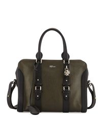 Alexander McQueen - Green Small Padlock Zip Satchel Bag - Lyst