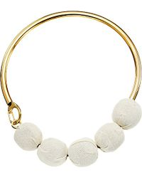 Marni | Metallic Fabric Choker Necklace | Lyst
