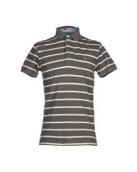 GANT - Gray Polo Shirt for Men - Lyst