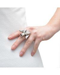 The Wildness Jewellery - Metallic Rhino Beetle Ring for Men - Lyst
