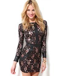 AKIRA | Black Ls Lace Dress | Lyst