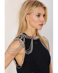 Nasty Gal - Gray Breaking Rad Body Chain - Lyst