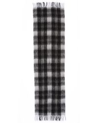 Marc By Marc Jacobs - Gray Blanket Plaid Scarf - Lyst