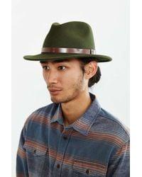 Brixton Green Messer Fedora Hat for men