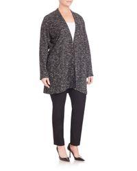 Eileen Fisher Black Long Open-front Sweater