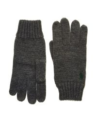 Polo Ralph Lauren | Gray Wool Gloves for Men | Lyst