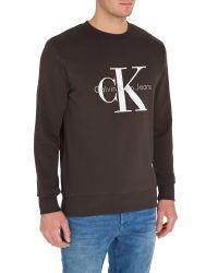 Calvin Klein | Gray Crew Neck Hwk Crew Sweater for Men | Lyst