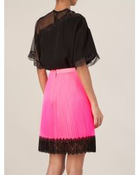Christopher Kane | Pink Pleated Tulle Skirt | Lyst