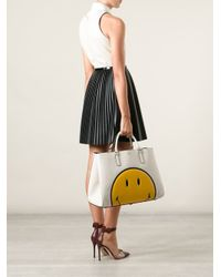 Anya Hindmarch Natural 'Smiley Featherweight Ebury' Tote