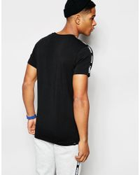 PUMA Black T-shirt With Taping for men