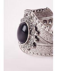 Missguided | Western Cuff Black/silver | Lyst