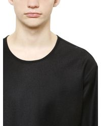 Christophe Lemaire Black Wool Cashmere Flannel Shirt for men