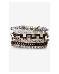 Express - Multicolor 8-row Mixed Bead Bracelet - Lyst