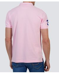 Hackett - Pink Tailored Fit Classic Polo Shirt for Men - Lyst