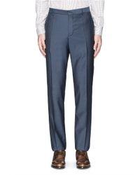 Paul Smith Blue 'byard' Wool-mohair Pants for men